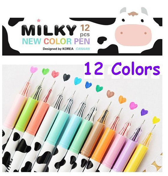 Gel ink pen, Color as picture Qty: 1 set 12 pens Purple, Red, Pink, Orange, Light Green, Green, Light Blue, Blue, Dark blue, Black, Rose Red,