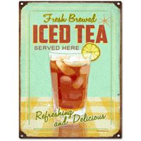 I COLLECT WALL TINS so when I ran across this site, I was excited to find more!  Ice Tea Retro Kitchen Tin Sign