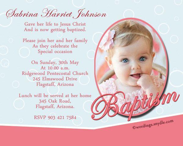 Christening Invitation Format