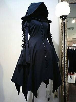 Witchy hooded coat