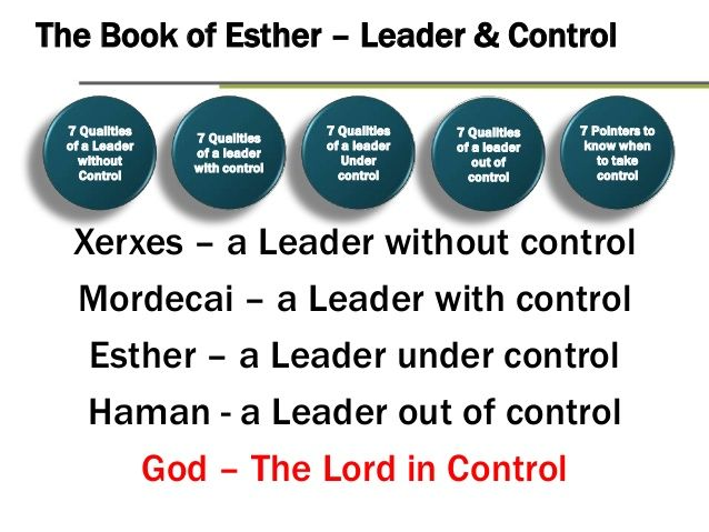 a study of the book of esther Key people: esther, mordecai, king xerxes i, haman key place: the king's palace in susa persia special features: esther is one of only books named for.