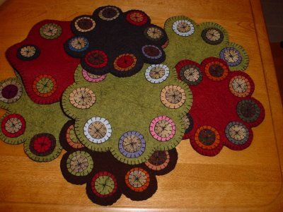 Nice short history about Penny Rugs on this blog