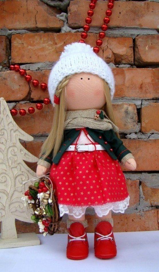 Купити: Интерьерная кукла Новогодняя девочка - Каталог рукоділля zolotiruky.in.ua #21456