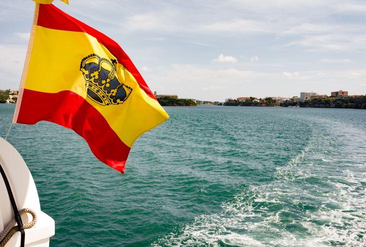 Spanish flag - Spanish flag - Port of Mahon, Menorca, Spain