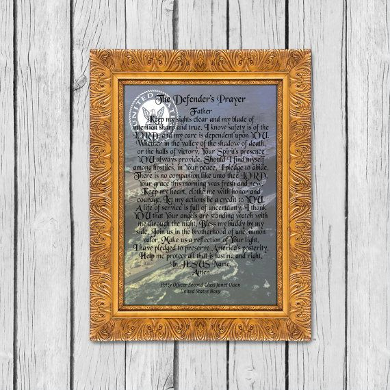 Personalized Military Gift Navy Custom Poem Soldier's