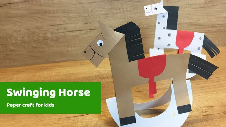 Swinging horse DIY for kids to do at home