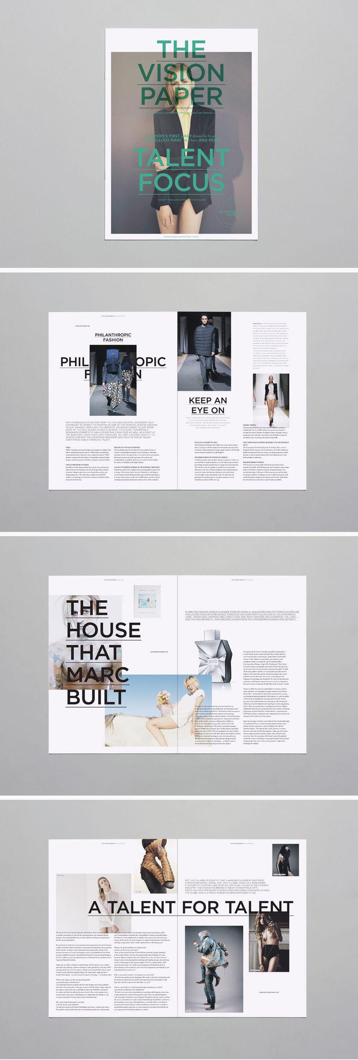 Mark Brunswicker's work on The Vision Paper #layout #magazine #design
