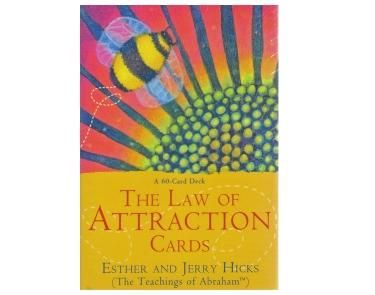 The Law of Attraction - This 60 card deck based on the New York Times bestseller 'The Law of Attraction' by authors Esther & Jerry Hicks, presents the teachings of the Non-Physical entity Abraham in these beautifully illustrated cards.    Using these cards will teach you how all things, be-it wanted or unwanted are brought to you by this most powerful force, so you can make these work to your advantage to achieve your worldly desires.