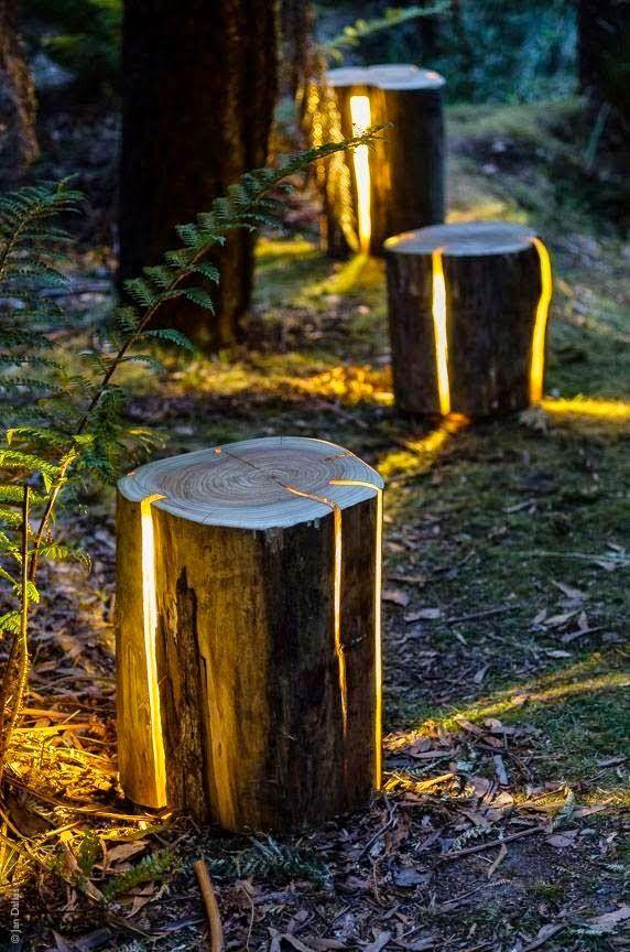 Duncan Meerding expands his cracked log lamp range   Outdoor Areas