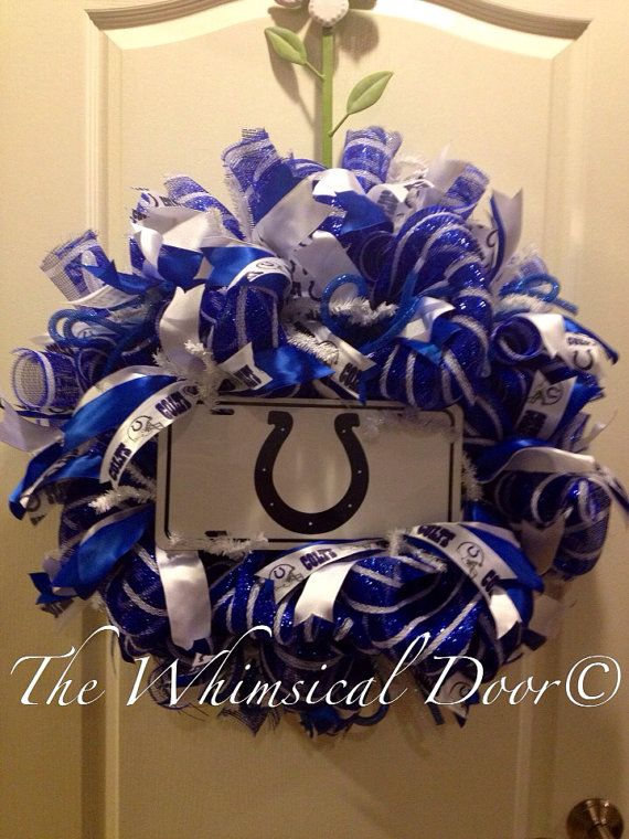 Indianapolis Colts NFL Football Wreath  on Etsy, $60.00