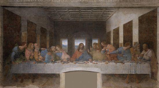 La Cène, par Léonard de Vinci