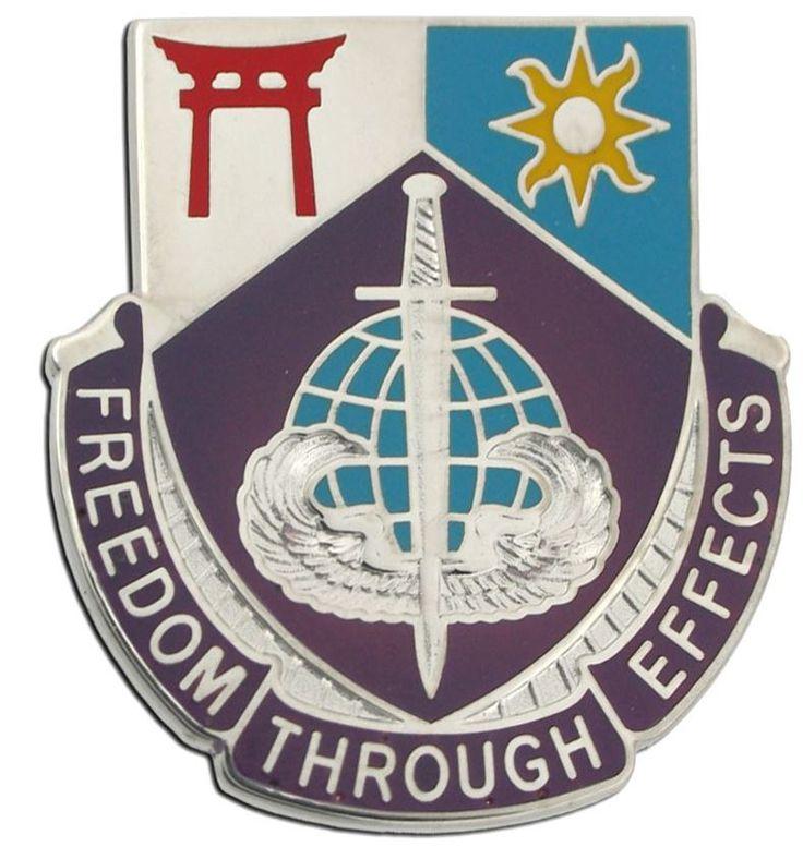 97th Civil Affairs Battalion Unit Crest (Freedom Through Effects)