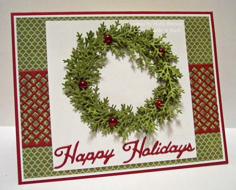 Glitter, Stamps, and Ink (Oh My...): Happy Holidays Wreath ...