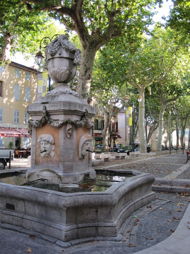 Quatre Fontaines, downtown Cotignac. The markets and boulangerie are amazing!