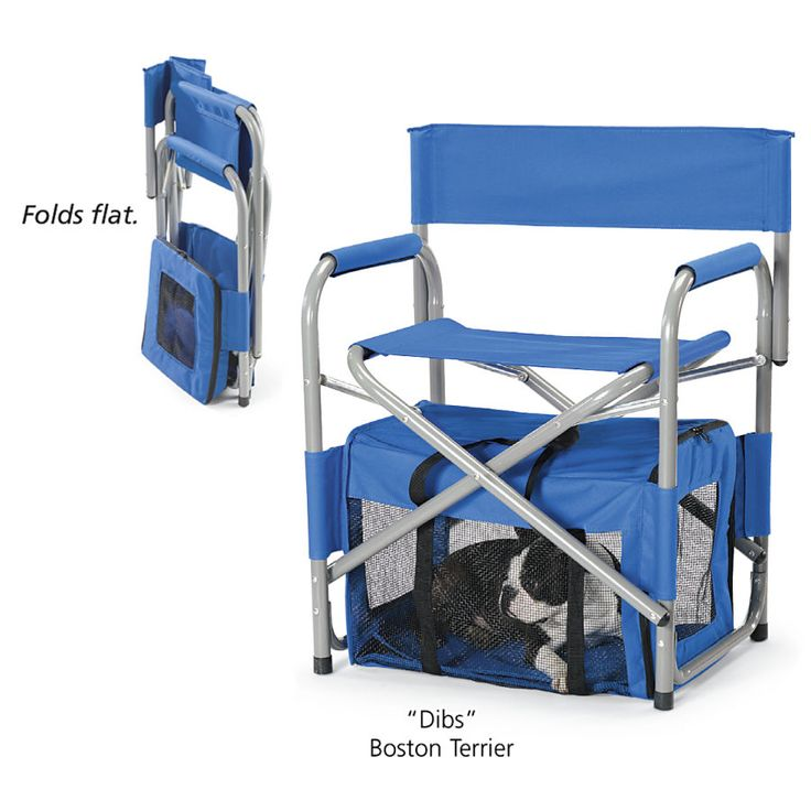 Collapsible Crate Chair - Dog Beds, Dog Harnesses & Collars, Dog Clothes & Gifts for Dog Lovers | In The Company of Dogs-- would be PERFECT to take penny to shows!