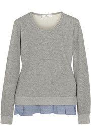 CLURuffle-trimmed cotton-blend jersey sweatshirt