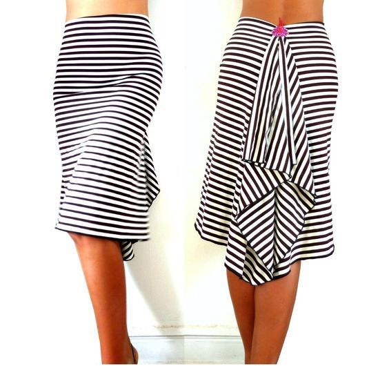 Stripies Fluted Skirt/Dress by miradaTenueDeTango on Etsy https://www.etsy.com/uk/listing/495708183/stripies-fluted-skirtdress