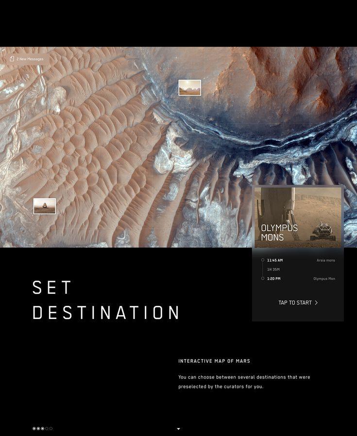 Mars Rover App for NASA on Behance Mars, Interactive map
