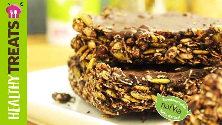 #Healthy #Vegan #Chocolate Crunch Bars - #Natvia's Healthy Treats