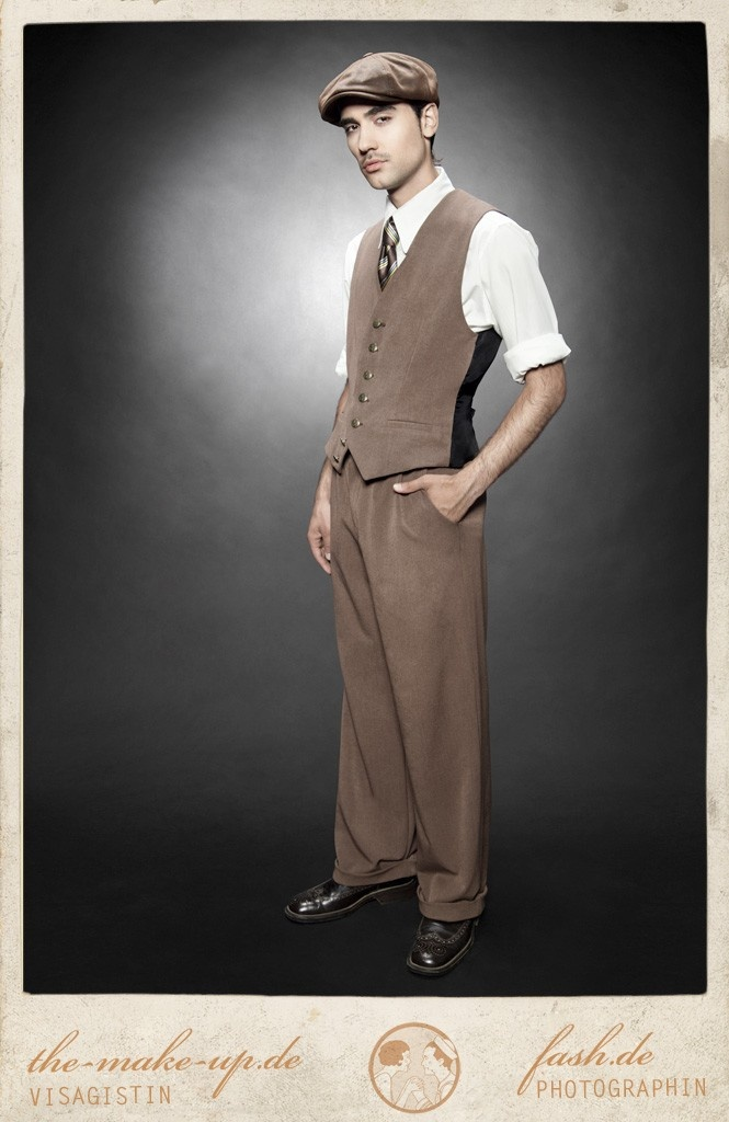 college vest swinging savoy brown vecona vintage swing dance lindy hop waistcoat 1930 30s 149. Black Bedroom Furniture Sets. Home Design Ideas