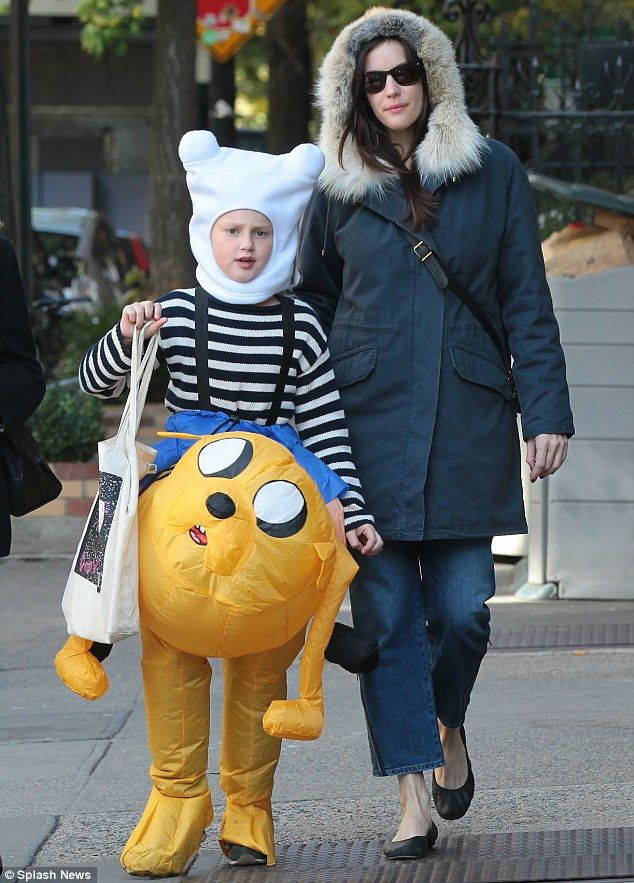 liv tyler was seen in new york with her son milo who was dressed in our exclusive spirit halloween adventure time characters finn and jake - Halloween Adventure New York