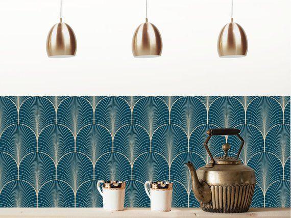 Credence Adhesive Repositionnable Klimt Bleu Nuit Credence Adhesive Papier Peint Adhesif Credence