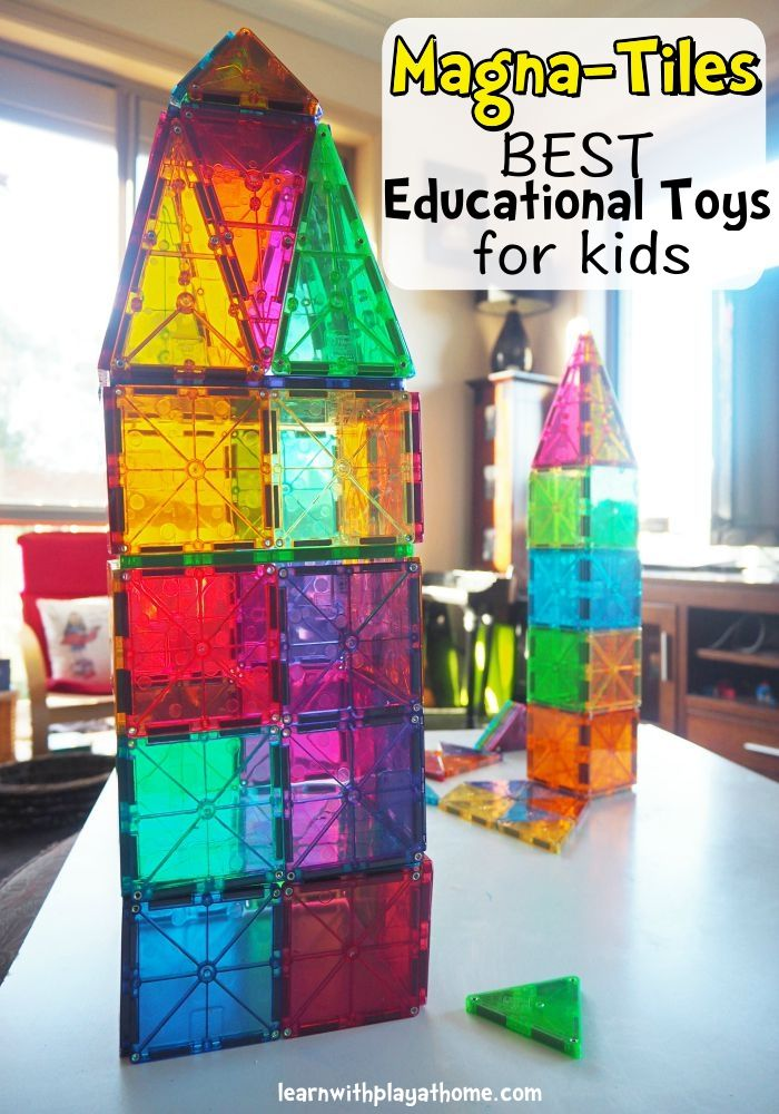 Learn with Play at Home: Best Educational Toys for Kids. Magna-Tiles. My preschooler is obsessed with them!'