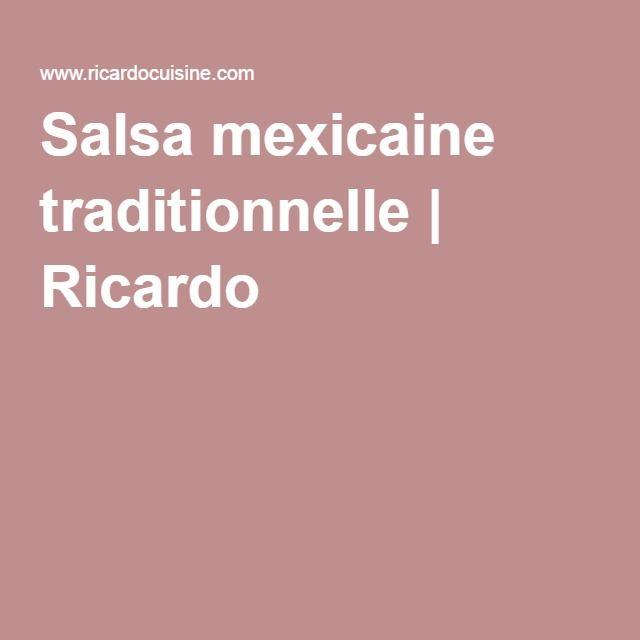 Salsa mexicaine traditionnelle | Ricardo