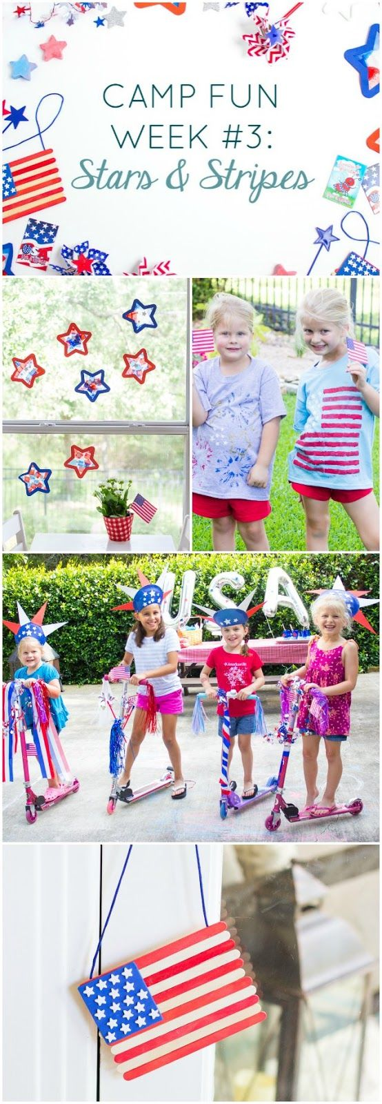 "Camp Fun ""Stars and Stripes"" Week – check out these patriotic crafts and activit…"