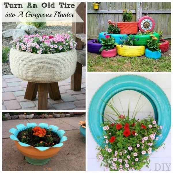 17 Ways To Reuse Tires Red Ted Art Make Crafting With Kids