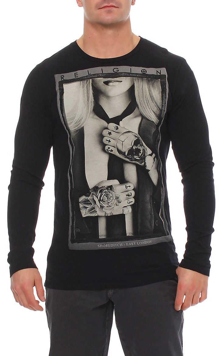 Religion Herren T-Shirt Shirt Langarmshirt Longsleeve SUIT - B2415STF02 in Vêtements, accessoires, Hommes: vêtements, T-shirts | eBay