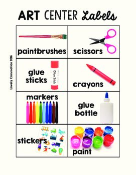Freebie! This growing set of Preschool Center Labels helps you label the items in your centers quickly and easily.Just print, laminate and tape and sticky tac on.More center labels will be added to this pack soon!
