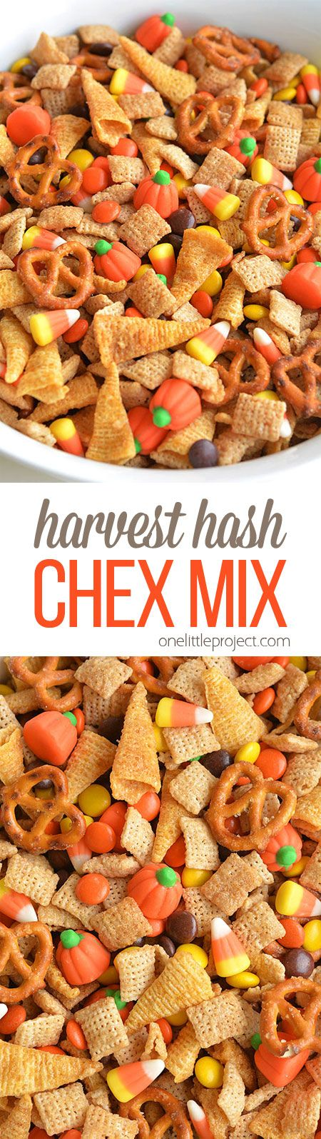 Halloween Harvest Hash Chex Mix Recipe Halloween party