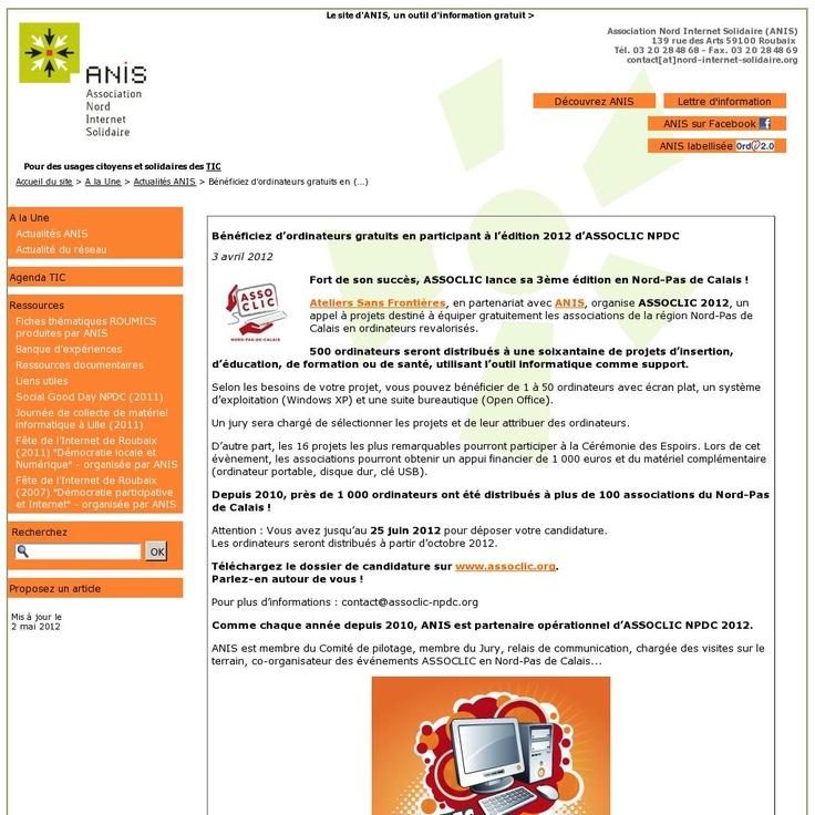 Pour promouvoir et encourager l'esprit d'entreprise auprès des étudiants régionaux,le Crédit Agricole Nord de France, en partenariat avec le réseau Je Crée, lance le « Challenge initiatives étudiants ».  Ouvert aux étudiants post-bac inscrits dans une Université / Ecole du Nord-Pas de Calais, les projets peuvent être individuels ou collectifs et les challengers pourront gagner jusqu'à 5 000 Euros.   25 juin 2012 : clôture des candidatures