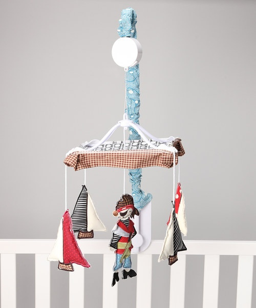Attach this darling mobile to the side of a little one's crib to enchant and lull them to sleep to the gentle sound of Brahms' Lullaby. It's a nursery essential that's sure to be beloved by Baby and admired by guests as a stylish choice for the romm.