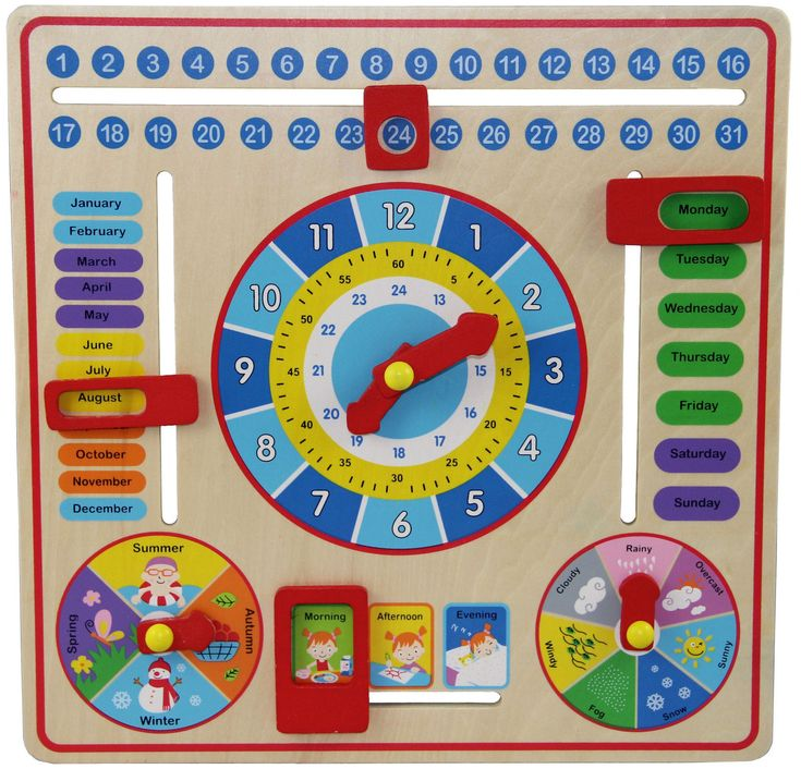 Small World Toys Ryan's Room All About Today Calendar Board, For 3  Kid, 5459872