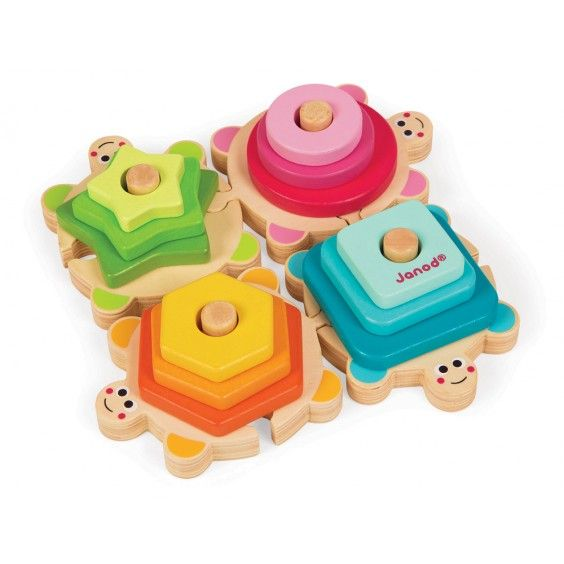 Janod - Wooden Stacking Puzzle Turtle - Christmas Catalogue - Our Products - Entropy Australia lots of fun learning shapes #EntropyWishList #PintoWin