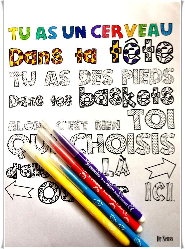Citations à colorier - Charivari à l'école