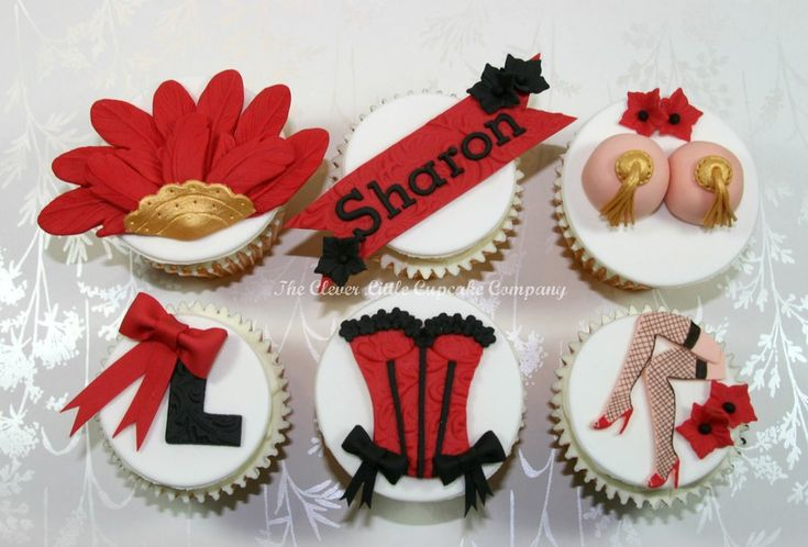 Burlesque Hen Party Cupcakes - by CleverLittleCupcake @ CakesDecor.com - cake decorating website