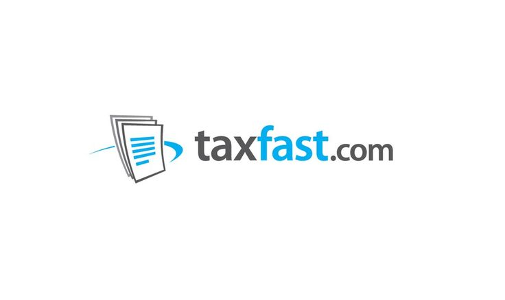 Logo/color scheme for taxfast.com by Sector Nine Studios