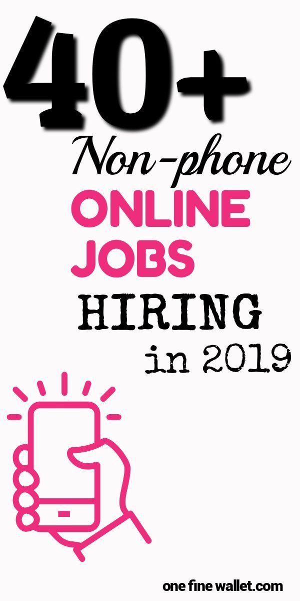 40+ NEW Non-Phone Work from Home Jobs – Saleema imran