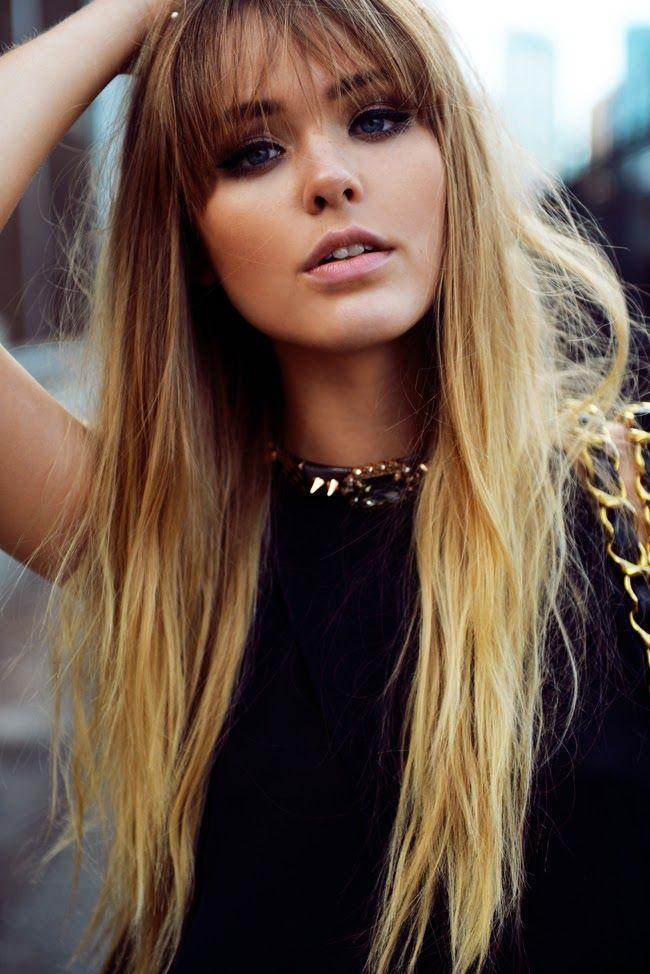 Fine 1000 Ideas About Bangs Long Hair On Pinterest Long Hair Bangs Short Hairstyles Gunalazisus