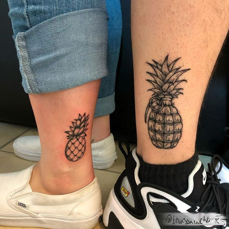 His and hers pineapples for zack and jayda left is fresh