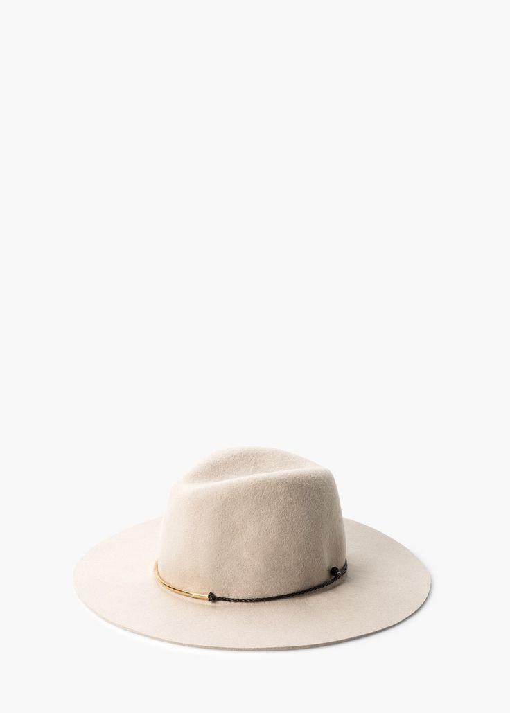 Chapéu fedora lã -  Mulher | MANGO