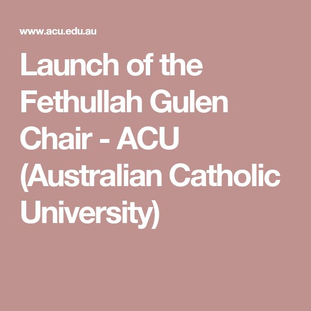 Launch Of The Fethullah Gulen Chair