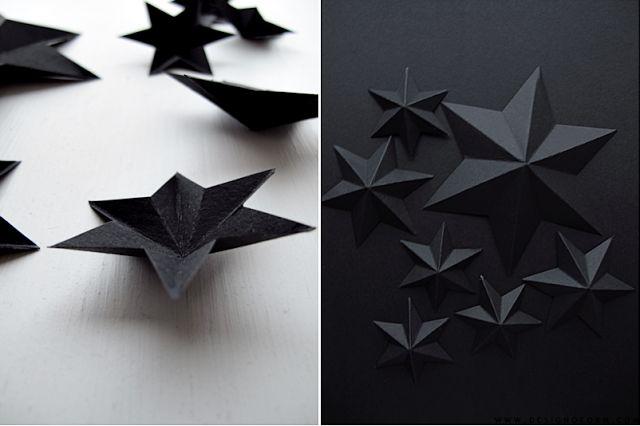 elegants black stars