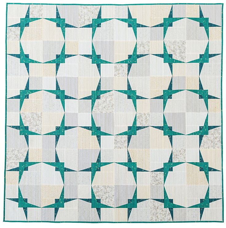 """Super-duper delightful """"Ceiling Tiles"""" quilt by Amy Garro. The extra-sense quilting (using some metallic thread!) can be seen after the jump and makes this even more fabulous!"""
