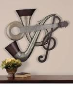 Jazz Time Metal Wall Sculpture