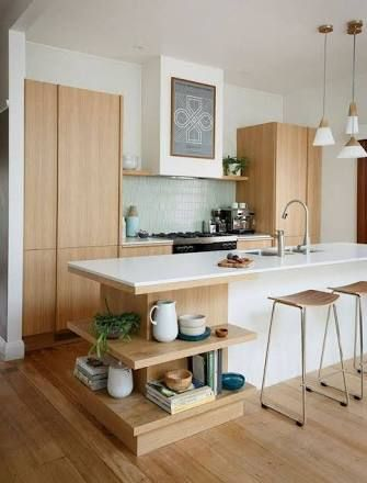 Image result for island bench with side shelves