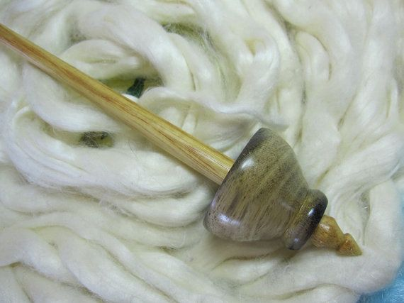 Tibetan Support Spindle in Blue Mahoe &  by SillySalmonDesigns